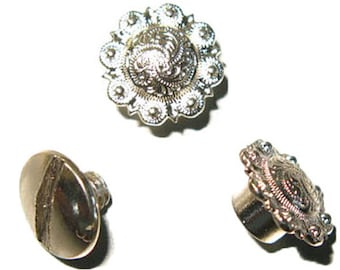 Spiral Berry Concho 10 pack Nickel