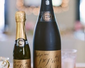 Will you be my bridesmaid? -Champagne Bottle Labels