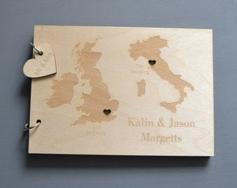 Personalised Duo Destination Wedding Guest Book
