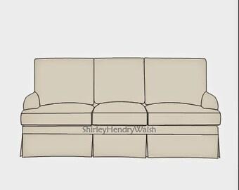 Custom Slipcover For Any 6 Cushion Sofa Use Your 9 14 Ounce