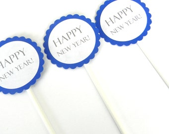 12 Happy New Year Cupcake Toppers