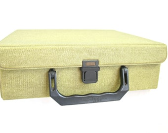 Mini Suitcase Cassette Storage Case Faux Tweed Suitcase Men Work Bag Boyfriend Gift Dutch Design