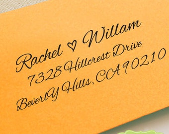 CUSTOM ADDRESS STAMP, personalized pre inked address stamp, pre inked custom address stamp, address stamp with proof - calligraphy b5-58