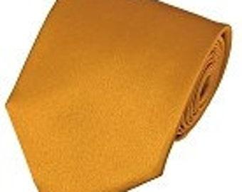 mens gold necktie custom made many colors