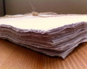 Handmade Paper - Recycled Paper White 10 sheets of 9 by 12.5in, A4 or A5