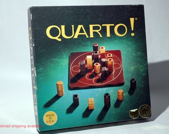 Quarto Wooden Strategy Game from Gigamic 1993 COMPLETE (read description)