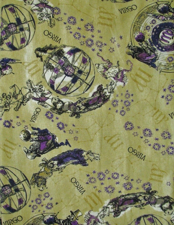 Reserved for kim virgo fabric zodiac fabric by for Astrology fabric