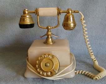 Rotary Telephone - Marble - Made in Italy
