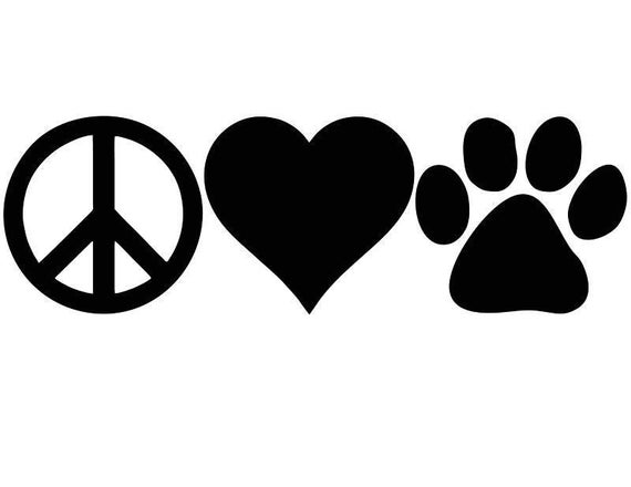Items Similar To Peace Love Dogs Peace Love Cats Love