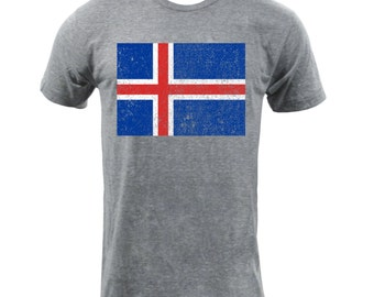 Flag of Iceland - Athletic Grey