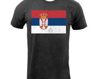 Flag of Serbia - Tri Black