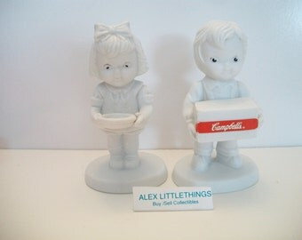 vintage Campbell soup children figurines