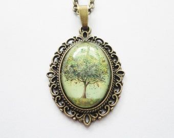 Necklace Tree green