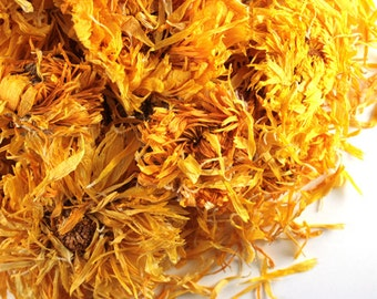 Dried Herb Marigold Flower ( Calendula) ~ One Ounce Bag Whole & Petals