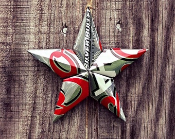 Upcycled Coors Light Beer Can Star Ornament
