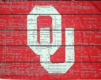 Oklahoma University Rustic Sign