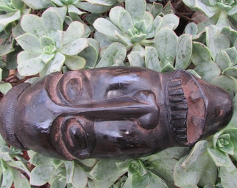 Vintage Carved Wood Mask Maputo Mozambique 1984