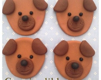 Dog, puppy Fondant cupcake, cookie toppers