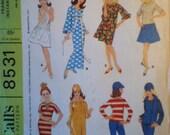 McCalls Vintage Barbie Doll's Instant Wardrobe Pattern 8531