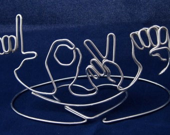 "Wire Sign Language ""Love"""