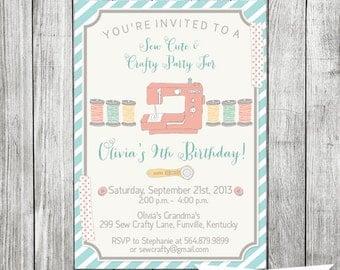 Sew Cute and Crafty Invite - 5x7 JPG