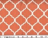 Fabric Quatrefoil White on Orange Quatrefoil Cotton 1 Yard