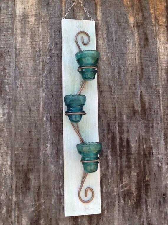 Vintage Wall Decor Hand Made Distressed Candle Or Tea Light