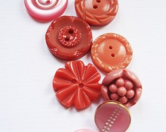 Pink Passion Vintage Button Collection