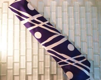 Mod Blue Navy Abstract Italian Silk Tie -  Lucien Piccard