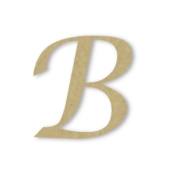 Wooden monogram letter b large or small unfinished by for Big wooden letter b