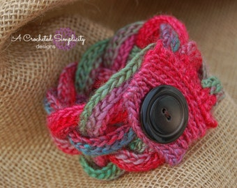 "Crochet Pattern: ""A Braided Simplicity"" Accessories, Bracelet, Headband, Belt and Coffee Cozy, Permission to Sell Finished Items"