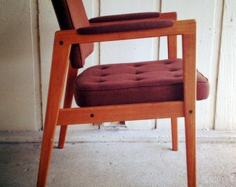 Mid Century Svegards Markaryd Chair with Orignal Upholstery Made in Sweden