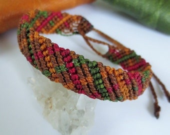 Brown Macrame Friendship Bracelet Handmade wristband