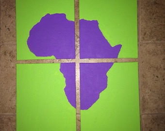 Hand painted Africa canvas art