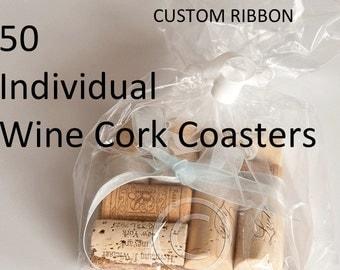 Wine Cork Coaster Single Coaster, Party Favor, Wedding Favors, Unique Wedding Favors