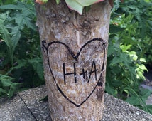 PERSONALIZED Birch Vase, Wedding Decor, Home Decor