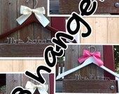 EIGHT wedding hangers / SHIPS From USA  / Personalized Wedding Hanger / Brides Hanger