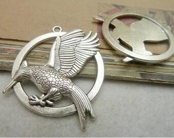 5pcs 34x42mm Antique Bronze Lovely bird  Charm Pendant c7257