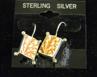 Elegant Beautiful Sterling Silver 925 French Wire Hanging Earrings #5761
