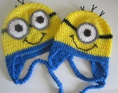 MADE TO ORDER Minion Hat: Baby to Adult Custom Hat - Handmade and Crocheted with Love