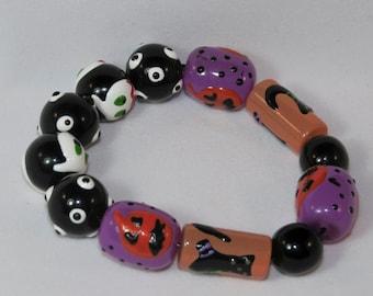 Purple Pumpkin Patch Bracelet