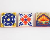 Mexican tile, tribal tile,housewares,colorful,tile coaster, house decor, mexican fiesta