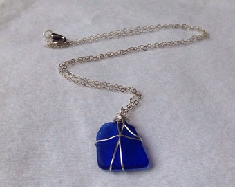 how to make sea glass neclace with rope