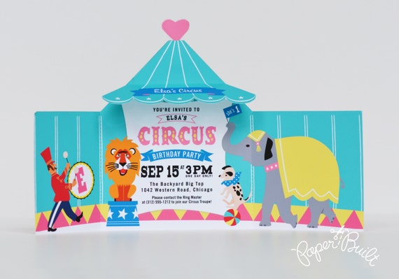 Like this item?  sc 1 st  Etsy & Circus Tent Invitation Printable Circus Invite Carnival