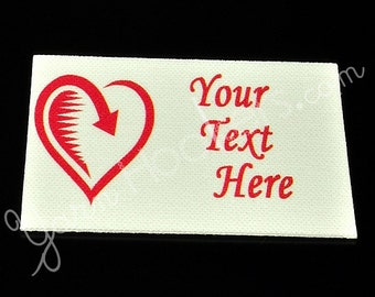 "Returned Love - ""Iron On""  or ""Sew In"" - Cotton Fabric Labels (White) - For Crochet, Knit, Sew and Quilt Heirlooms"