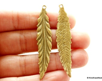 Long Leaf Bronze Charms