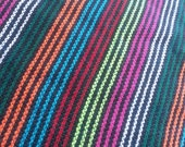4.5 yards x .87 yard Mexican FABRIC with different NEON stripes (cambaya)