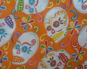 4.20 yards X 1.90 yards of Mexican  with colorful designs like calaveras,  day of the death lykra