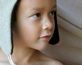 Wool Herringbone Hat
