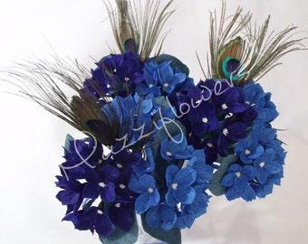 Bridal bouquet,bridesmaids bouquet,wedding bouquet,paper flower bouquet,bouquet of of hydrangea,paper hydrangeas